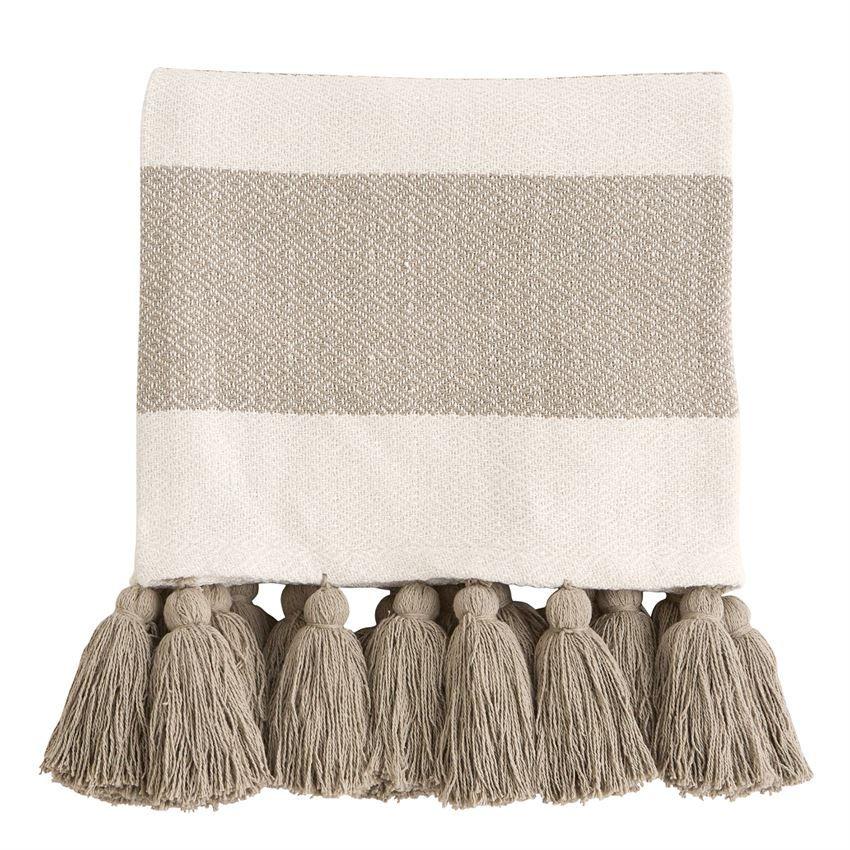 Blanket Woven Tassel Throw Blanket