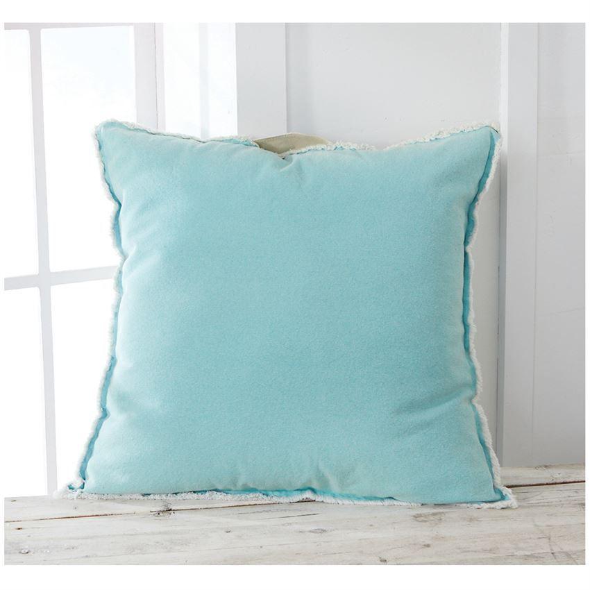 Pillow Aqua Washed Canvas Pillow