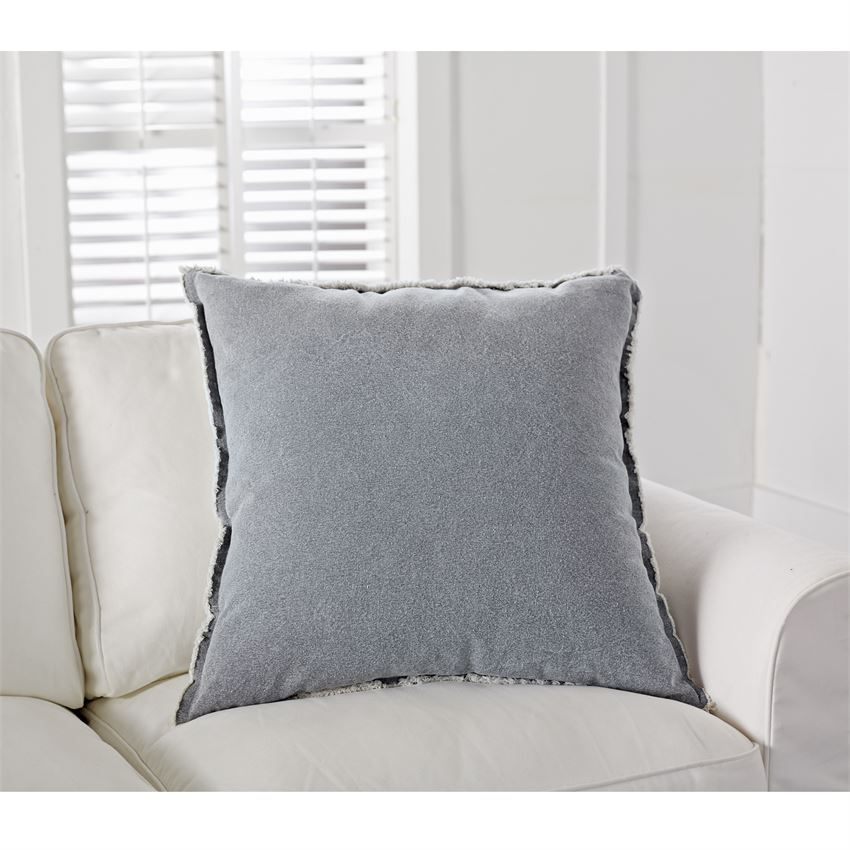 Pillow Gray Washed Canvas Pillow