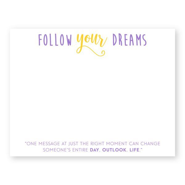 Note Cards Follow Your Dreams Flat Notecards