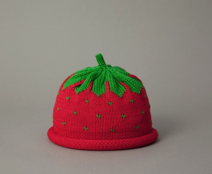 Hat Strawberry Knit Hat