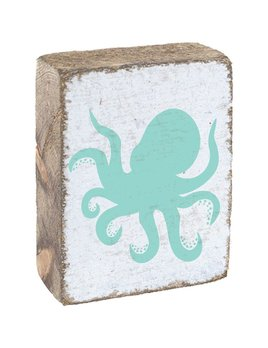White Tumbling Block, Sea Glass Octopus