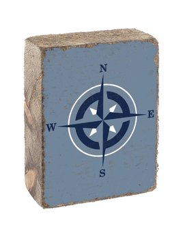 VIctory Blue Tumbling Block, White & Navy Compass Rose