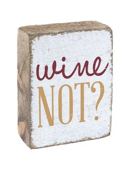 White Tumbling Block, Gold & Merlot Wine Not?
