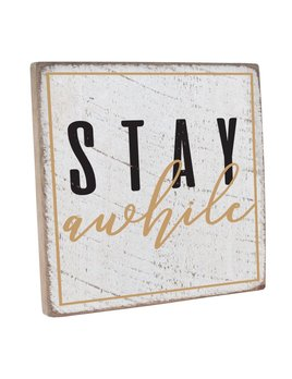 Stay Awhile Vintage Square