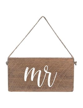 Sign Mini Plank - Mr - Natural with White