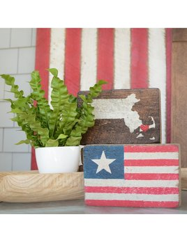 American Flag with Star XL Block