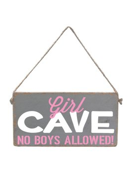 Sign Girl Cave - Mini Plank