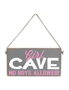 Sign Girl Cave - Mini Plank