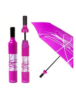 Umbrella Wine Bottle Umbrella - Artistic Purple