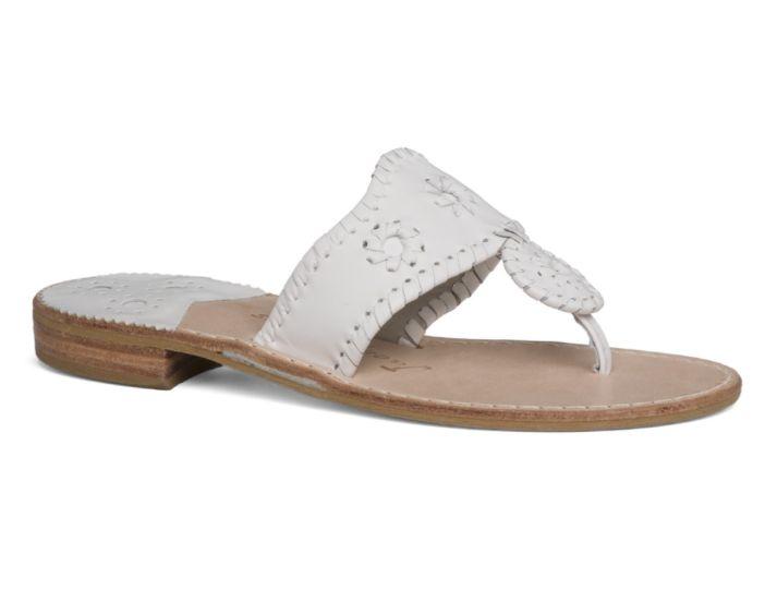 Jack Rogers Palm Beach Sandal - White