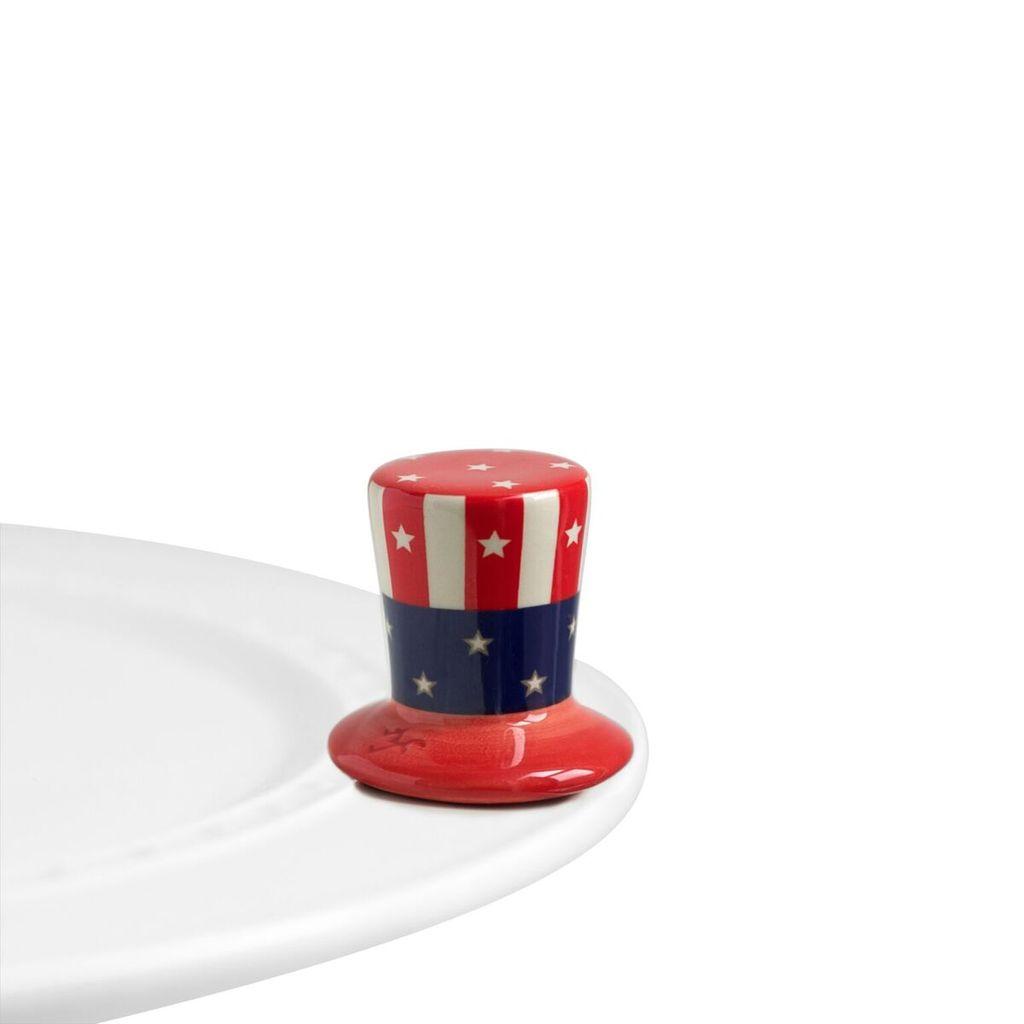 Minis Attachment Nora Fleming Minis - Uncle Sam Hat