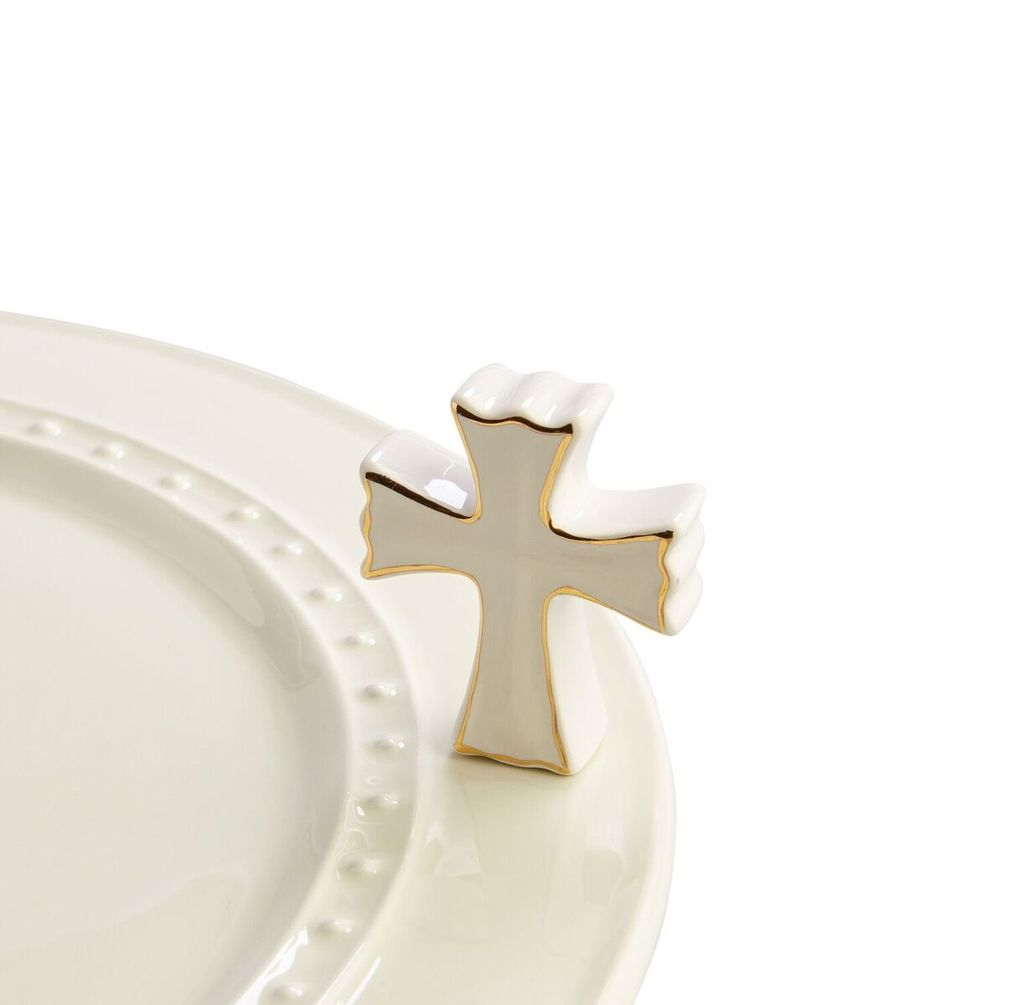 Minis Attachment Nora Fleming Minis - White Cross