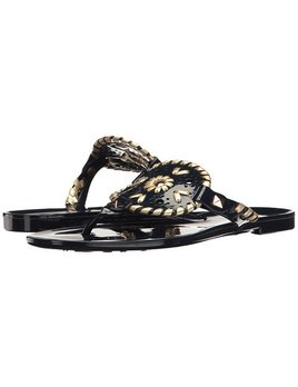 Jack Rogers Miss Georgia Jelly Sandal - Midnight/Gold