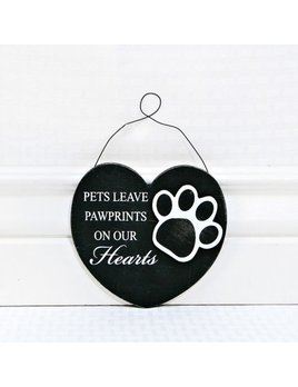 Ornament Pets Leave Pawprints Wooden Ornament