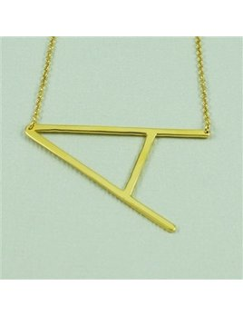 Necklace Large Sideways Initial Necklace