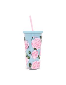 Tumbler ban.do sip sip tumbler with straw - Rose Parade