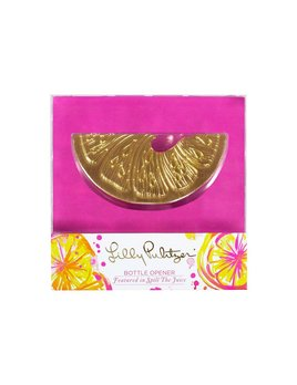 Lilly Pulitzer Bottle Opener, Orange (Spill the Juice)