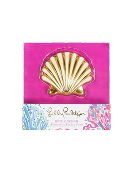 Lilly Pulitzer Bottle Opener, Shell (Fan Sea Pants)