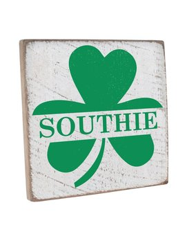 Sign Personalized Shamrock Vintage Square