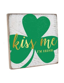 Sign Kiss Me I'm Irish Vintage Square