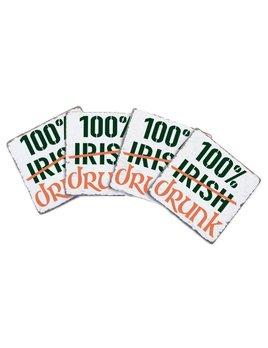 Coasters 100% Drunk Coasters - Set of 4