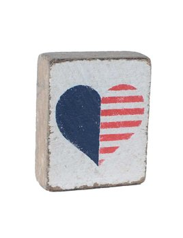 White Tumbling Block, American Heart