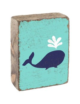 Sea Glass Tumbling Block, Blueberry Kids Whale