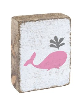 White Tumbling Block, Pink Kids Whale