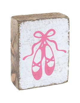 White Tumbling Block, Pink Ballet Slippers