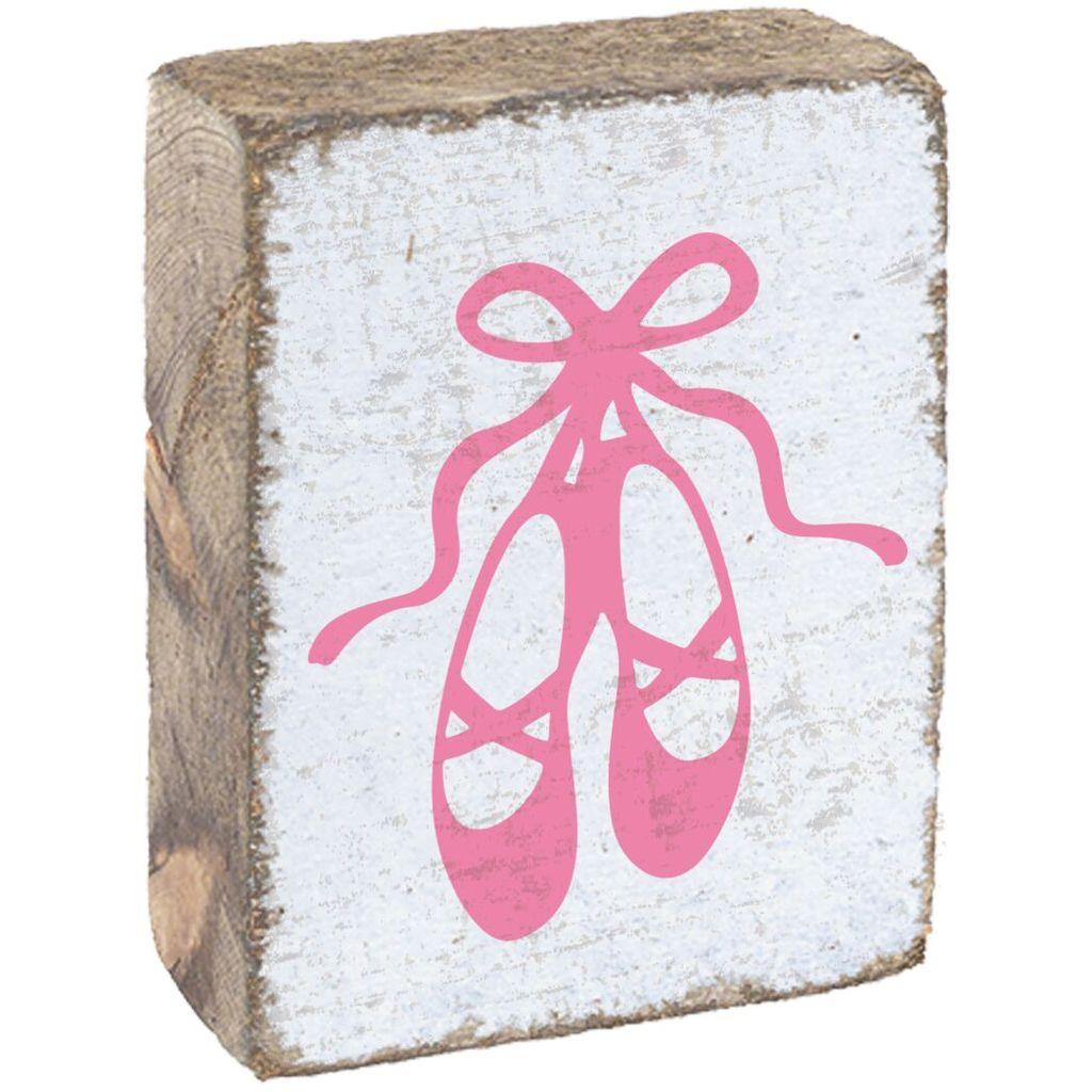 White Tumbling Block, Pink Ballet Slippers