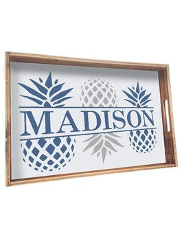 Tray Personalized Wooden Pineapple Tray