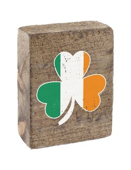 Natural Tumbling Block, Irish Flag Shamrock