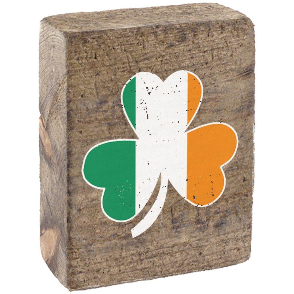 Natural Tumbling Block, Irish Flag Shamrock