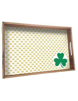 Tray Shamrock Wooden Tray