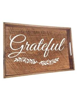 Tray Natural Wood Grateful Tray
