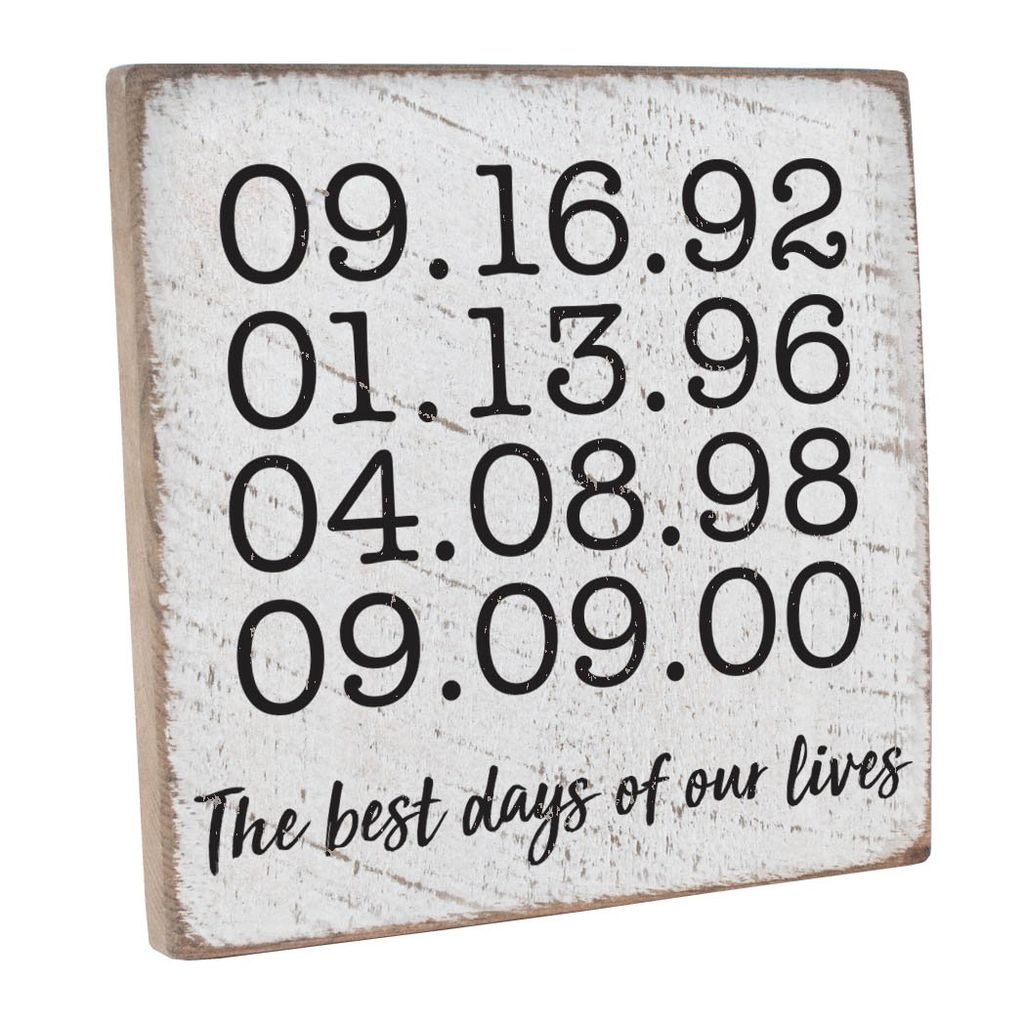 Sign Personalized The Best Days Vintage Square