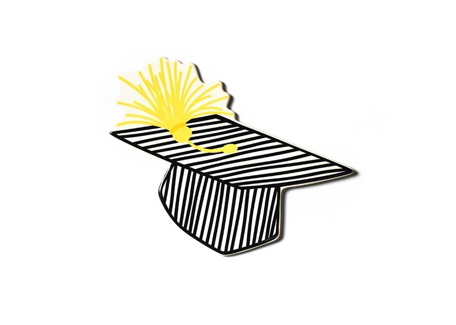 Attachment Striped Graduation Cap Big Attachment