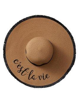 Hat C'est La Vie Straw Hat