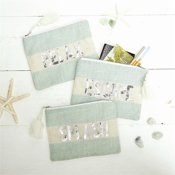 Cosmetic Case Seaside Sequin Pouch