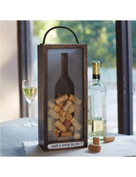 Wine Accessory Wine Silhouette Cork Box