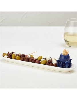 Platter Hors D'Oeuvre Platter with Octopus Pick Holder