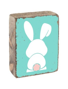 Seaglass Tumbling Block, White Bunny