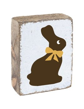 White Tumbling Block, Chocolate Bunny