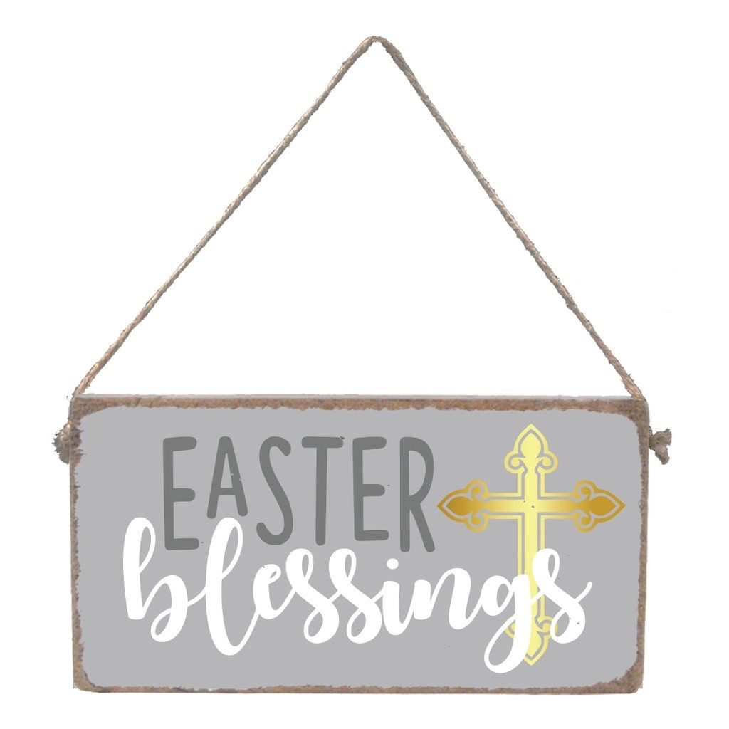 Sign Easter Blessings - Mini Plank