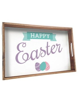 Tray Happy Easter Wooden Tray