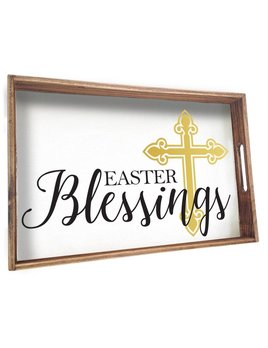 Tray Easter Blessings Wooden Tray