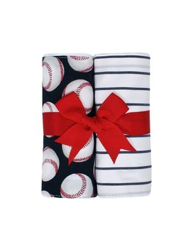 Baby Baseball Set of Two Burp Cloths
