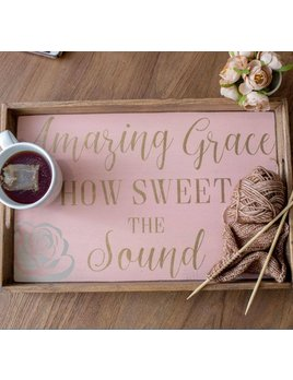 Tray Amazing Grace Wooden Tray