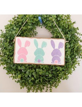 Sign Bunny Tails - Mini Plank